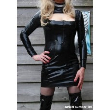 Latex dress for men and women with 2 zippers - art.nr-101