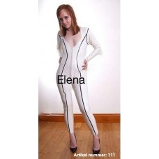 White latex catsuit - art.nr-111