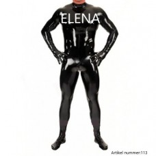 Latex catsuit with hands and feet - art.nr-113