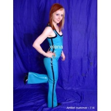 Latex catsuit with lacing - art.nr-114