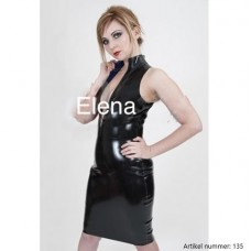 Sleeveless latex dress - art.nr-135