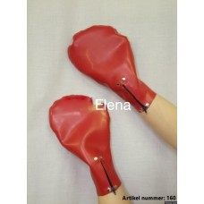Latex mitts  with zipper - art.nr-160