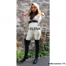 white leggings with jacket with hood- art.nr- 173