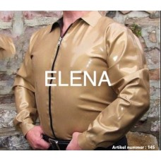 gold shirt with open zipper art.nr-174