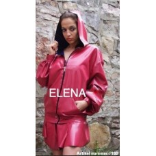 a pink jacket with open zipper and skirt art.nr-180