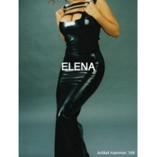 Long latex dress with cutouts art.nr-189