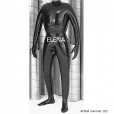 Inflatable catsuit with penis tube - art.nr-202