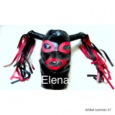 latex mask with hair all sizes in 9 colors - art.nr-57