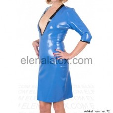 latex blue dress - art.nr-72