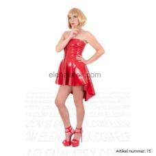 latex red dress - art.nr-75