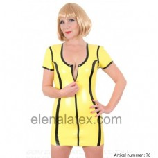 latex yellow dress - art.nr-76