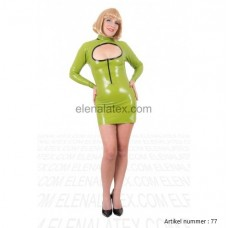 latex green dress - art.nr-77