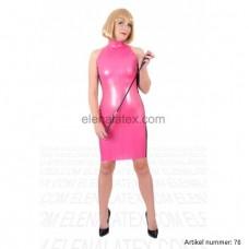 Latex metallic pink dress - art.nr-78