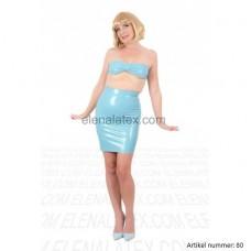 Latex light blue dress - art.nr-80