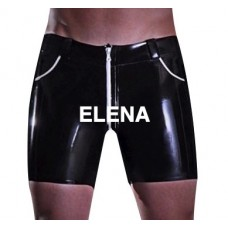 Latex Boxer Shorts With Pockets Zipper - art. nr.255