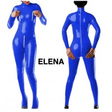 Latex blue catsuit  Art. nr :253