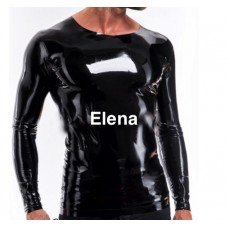 latex shirt with no  zippers  - art.nr-293