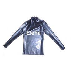 latex shirt with highjt neck and  zipper  - art.nr-294