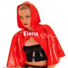 Latex cape with hood- art.nr-298