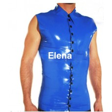 latex shirt with buttons  - art.nr 306