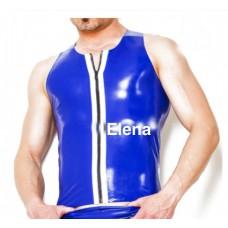 Latex Vest zipper sleevle  - art.nr-300