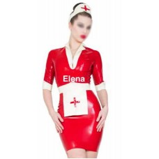 Latex Nurse Dress and apron headband art.nr-322