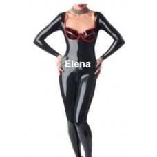 Latex cup catsuit  art.nr- 290